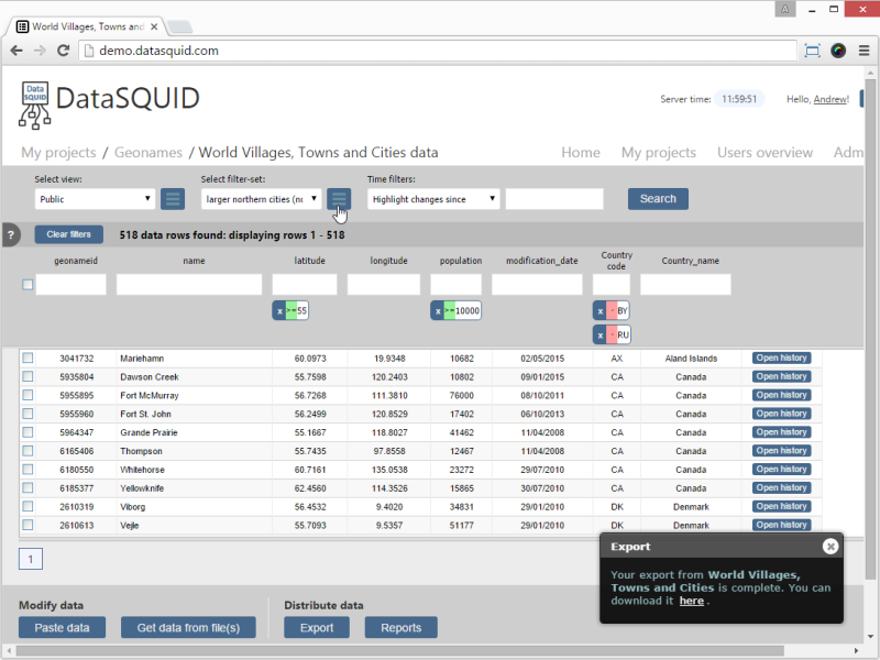 DataSQUID PC Free Edition Screen shot